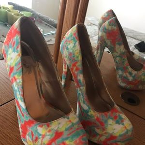 Multi fabric Sassy Heels
